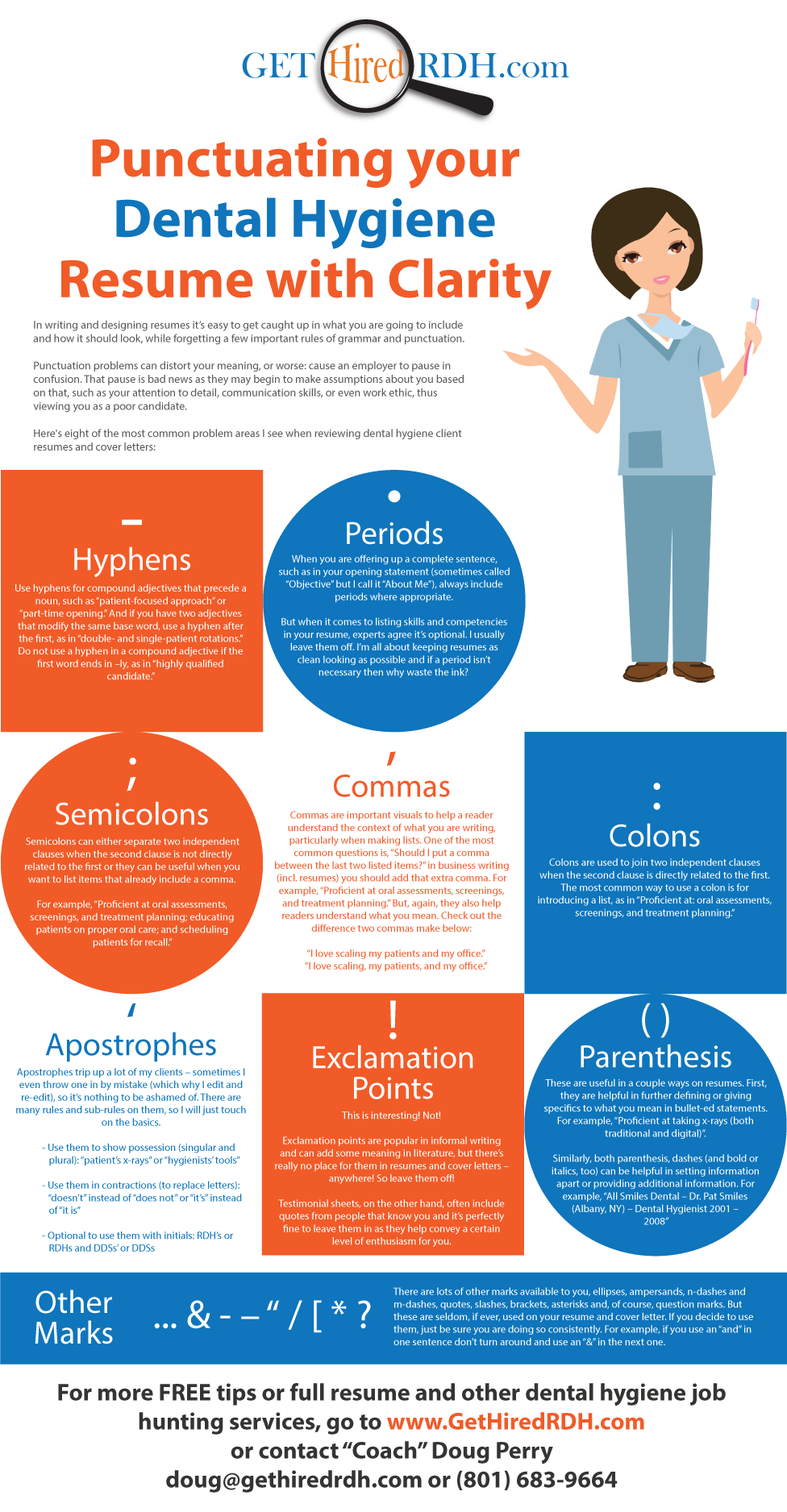 Punctuating Your RDH Resume with Clarity - Dental Hygiene Resumes ...