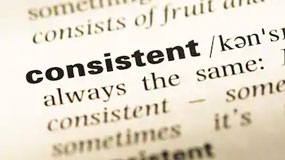consistent in dictionary