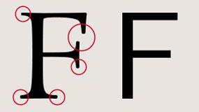 serif and san serif font example