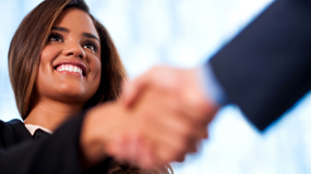 woman smiling showing job interview best practices.png