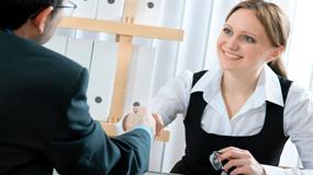 woman at dental hygiene job interview