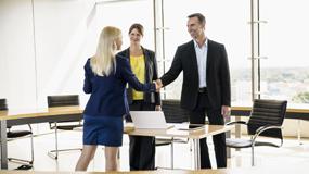 job interview shaking hands